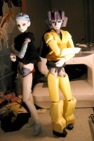Sunstreaker and Clunker 1 by batchix