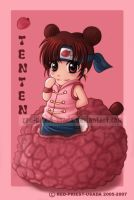 Chibi Fruit Ninja Tenten by Red-Priest-Usada