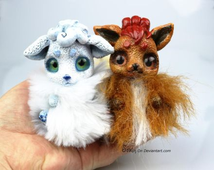 Hotstuff/Snowpuff Vulpix BonBun Art Doll FOR SALE by Sovriin