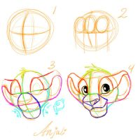 How to draw Simba by Anjali2010