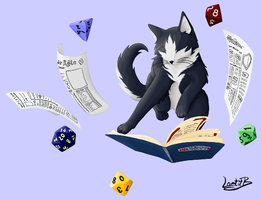 RPG cat / chat JDR by LaetitB-Design