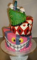 Alice in Wonderland Cake by Kahlan4