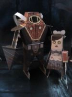 Bioshock Papercraft by QueenJellybeany