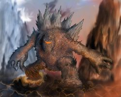 Lava Monster WIP 2 by Zooeel
