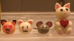 Cat and mouse charms by hellfirejade