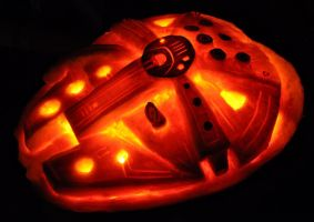 Millennium Falcon second view by NoelDickover