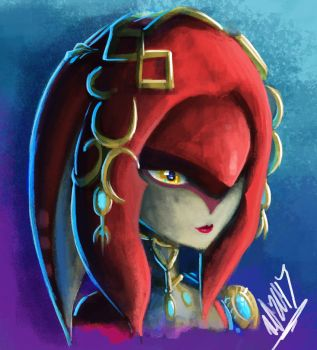 Sketchin' - Breath of the Wild Zora by TheRogueDeity