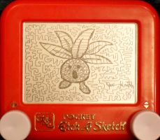 Oddish etch a sketch by pikajane