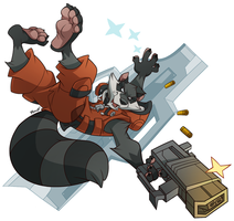 Rocket Raccoon 2 by DrawingKuma