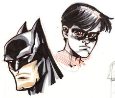 Sketch: Batman and Robin by thejeremydale