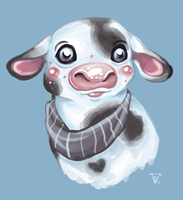 Baby cow by ChuChucolate