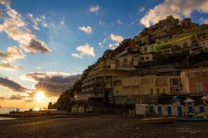 Sunset at Positano by Mateja89