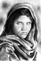The Afghan Girl by TheSixBPencil