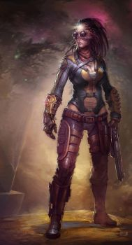 Another Girl with a Gun by Okmer