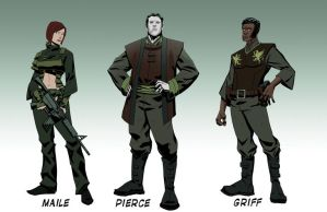 Cadre Characters line up 2 by jofsuarez
