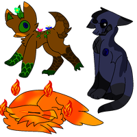 Free Batch 2 *Random Creatures* CLOSED by Poison-Tiger