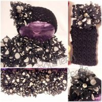 Ear Warmer and Knitted Scarf Set by YunisUnis