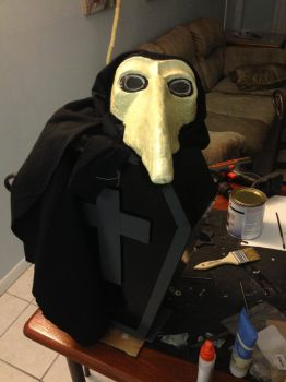 Finished Plague Doctor Mask/Coffin by UrsusArctos85