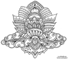 Lotus Colouring Page by WelshPixie