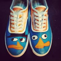 Perry the Platypus Shoes by Kyg0n