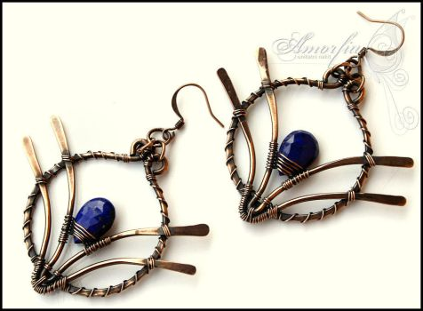 Lapis lazuli earrings by amorfia