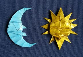 Moon and Sun - Sol y Luna by Figuer