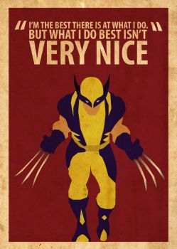 Wolverine Poster by Procastinating