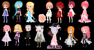 Free Selfy Adopts Pack 28 (2/14 Open) by mermagic-adopts