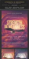 Strength in Weakness Church Flyer Template by Junaedy-Ponda