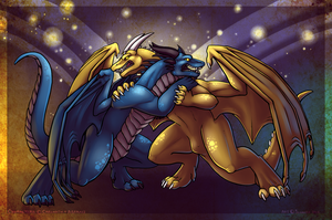 Dragon Fight by Sciggles