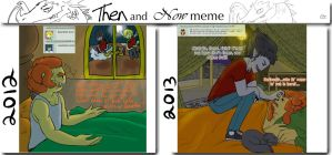Then and Now meme - Wow.... by MissPomp