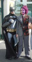 Batman and Two Face by batty9999