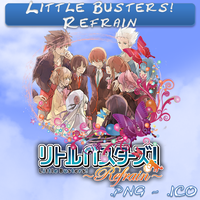 Little Busters Refrain ICO & PNG by bryan1213