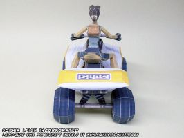 TR3 SLINC quad bike papercraft by ninjatoespapercraft