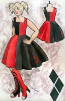 Harley Quinn Rockabilly Dress by MalteseLizzieMcGee