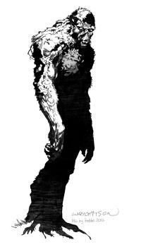 Daily Sketches Ink Bernie Wrightson's Swamp Thing by fedde