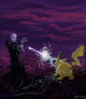117 Pikachu vs voldemort by foice