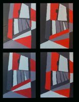 Black and Red and Grey All Over by Serenmoranart