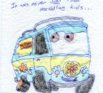 Lunch Napkin Notes - Mystery Machine by KZKOrdinance