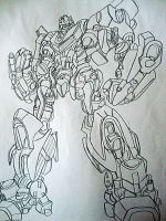 Transformers Bumblebee Sketch by Tabs2505