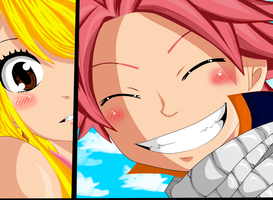 Fairy Tail Chapter 419 -Color- -Natsu And Lucy- by Frosch-Sama08