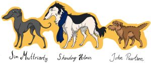 Sherdog Holmes, John Pawtson and Jim Muttriarty by TheLittleCreature