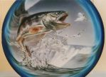 trout spare wheel cover by linkerart