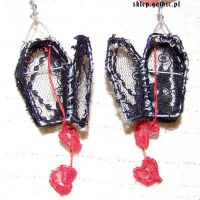 Earrings - coffins with hearts by JustyskaSay