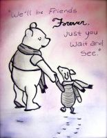 We'll be Friends Forever, Pooh by EmmieBeeCreations