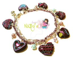 Chocolate Frenzy Bracelet by colourful-blossom