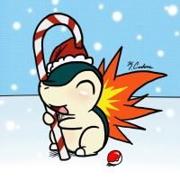 Cyndaquil Does Has Candycane. by ChibiNinja7