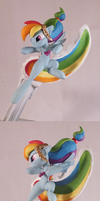 Divekick Rainbow Dash - spin by frozenpyro71
