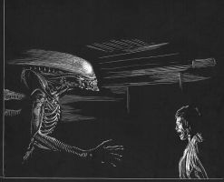 Alien Scratchboard by kimdemulder