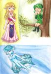 Ocarina of Time Caricatures 1 by Xiaomei23